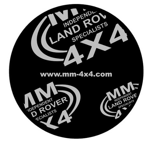 Spare Wheel Cover with MM4x4 Logo